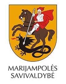 Marijampolės savivaldybės logo su pavadinimu