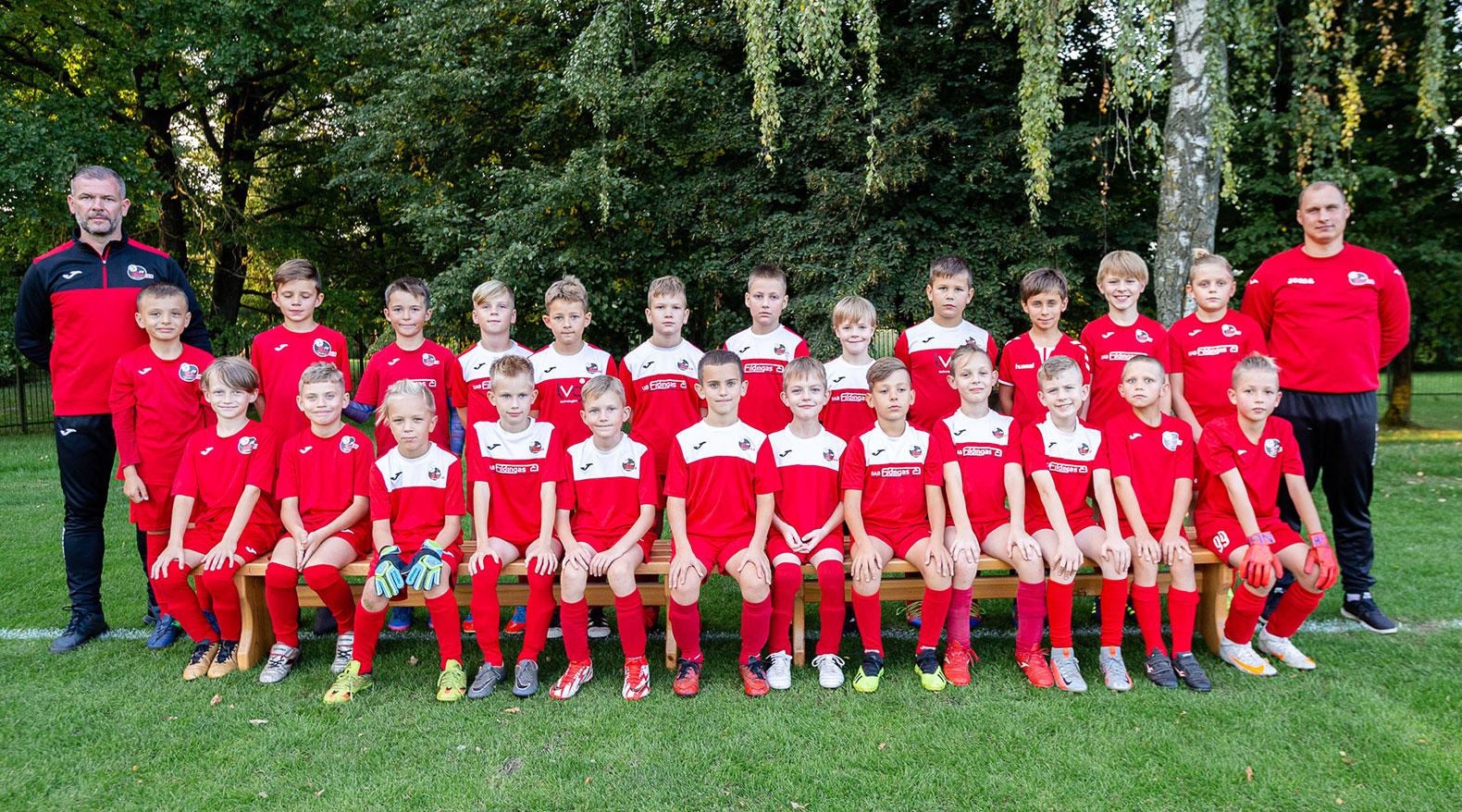U10 berniukų futbolo komanda