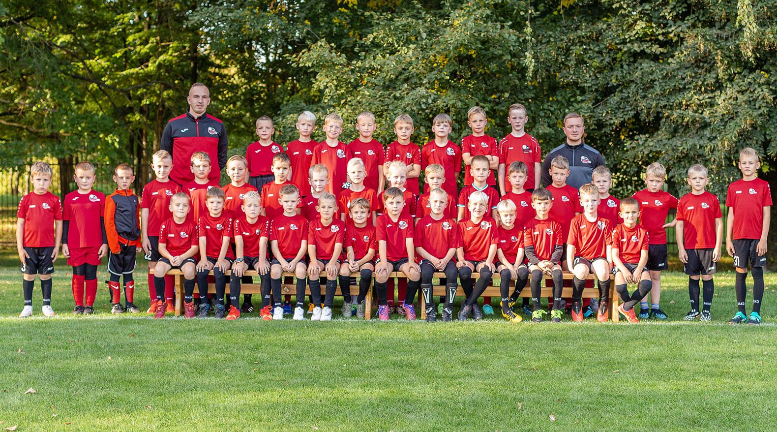 U8 berniukų futbolo komanda