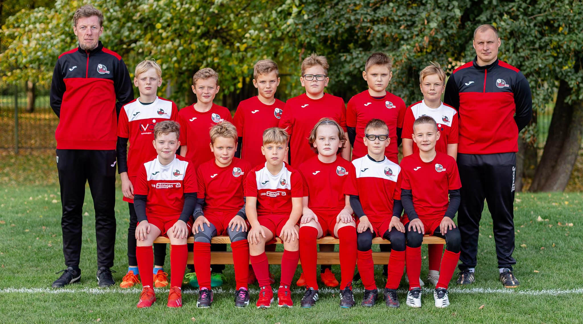 U11 berniukų futbolo komanda